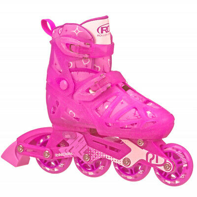 RDS Tracer Girls Kids Adjustable Inline Skates Rollerblades Blades Us Size 2-5