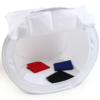 Photo Soft Box Light Tent Cube Softbox For Camera + 4 Backdrops