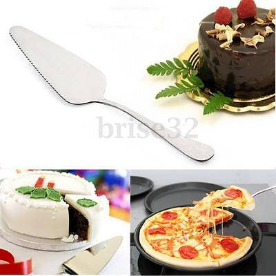 Stainless Steel Toothed Cake Pizza Pie Shovel Cutter Spatula Party Baking Tool