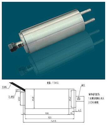 300w 0.3kw ER8 60000rpm Precision High Speed spindle motor water cooling 75VAC