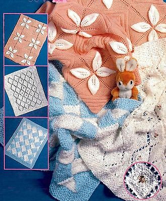 (766) Knitting Pattern for Baby Pram Covers, 3 designs in Chunky/ DK