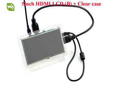 5inch HDMI LCD (B) 800×480 High Resolution Resistive Touch Screen + Clear Case