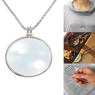 Decorative Monocle Necklace With 6x Magnifier Magnifying Glass Pendant Fashion