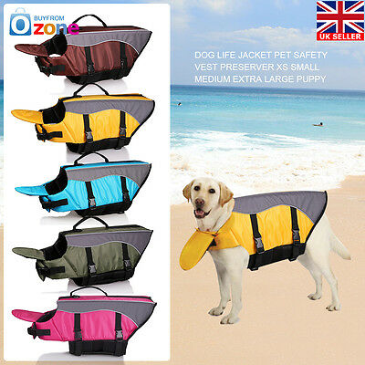 Dog Life Jacket Pet Safety Vest Preserver XS Small Medium Extra Large Puppy