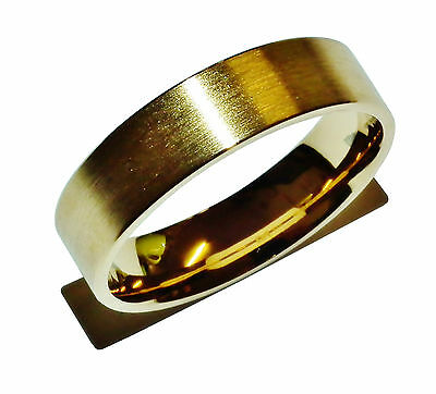 Stamped 925 Sterling Silver & Gold Plated 5mm Wedding Band Ring - UK Size: S