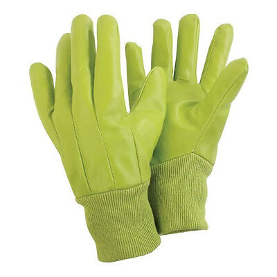 Briers Water Resistant Lime Light Use Gardening Gloves Size Medium B2131