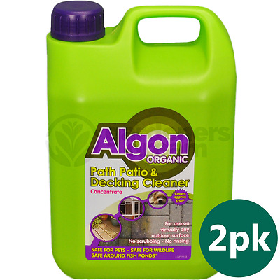 2 X 2.5L Algon Organic Concentrate Path And Patio Outdoor Cleaner Moss Algae