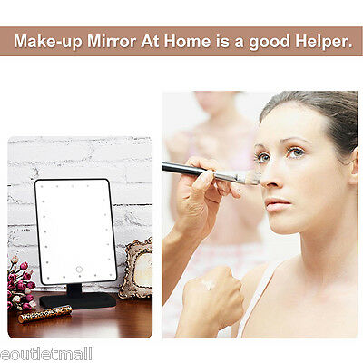 LED LUCE Cosmetico Compatto Make-up Specchio 20 LEDs Make Up Mirror Regolabile