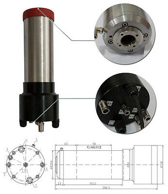 3HP 2.2kw 30000RPM ISO20 3 bearings Automatic Tool Changes ATC Spindles