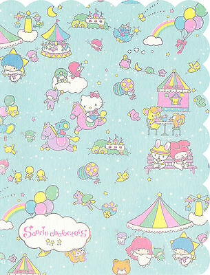 Sanrio Hello Kitty and Other Characters Mini Letter Set (Teal)