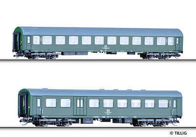 TILLIG 01660 TT Set Of 2 Motorail train Dresden-Budapest 1 the DR Epoch IV