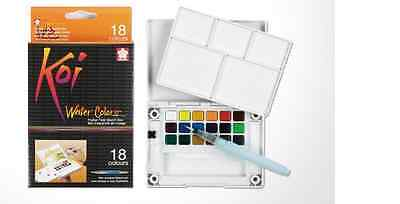 Sakura Koi Watercolour Paint 18 Colours with Brush Sketch Set