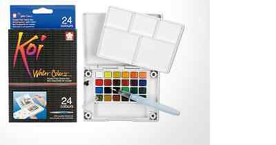 Sakura Koi Watercolour Paint 24 Colours with Brush Sketch Set