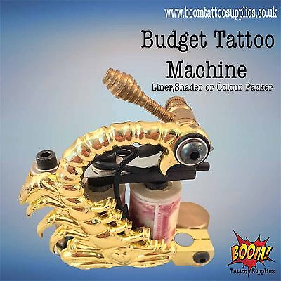 Budget Tattoo Machines Gold Scorpion Liner/Shader/Colourpack SALE 63% OFF
