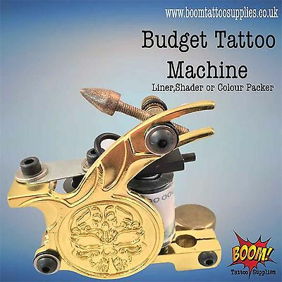 Budget Tattoo Machines Gold Skull Liner/Shader/Colourpack SALE 63% OFF