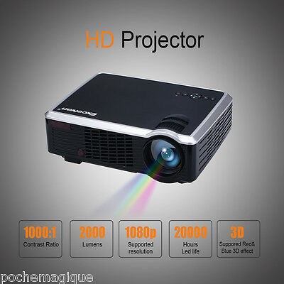 Home Entretenimiento LCD LED33-02 HD Proyector 2000 lúmenes Support 1080P 1000:1