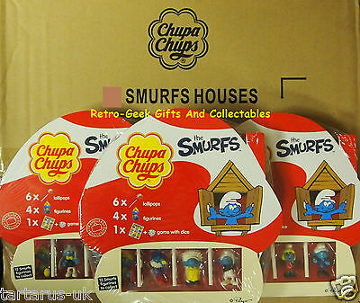 Traveler Exclusive Chupa Chups The Smurfs Houses Lollipops Figurines Game + Dice