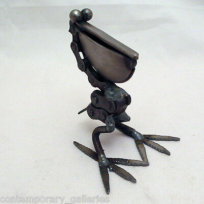 Yardbirds Unpainted Handmade Recycled Metal Bike Chain Pelican Bird Sculpture