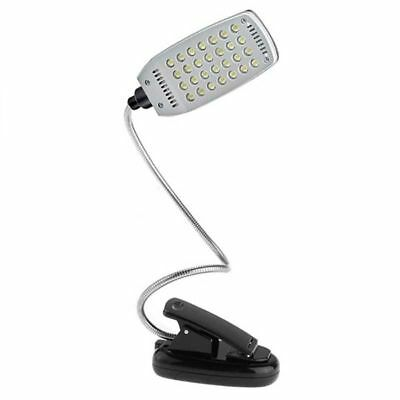 28 LED Desk Book Light Clip On Reading Bright Lamp Torch