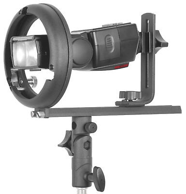 Phot-R Studio T Shape Hot Shoe Flash Bracket/Holder Softbox Snoot Bowens S Mount