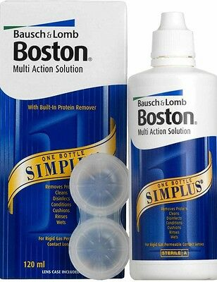 120 ml Bausch & Lomb Boston Simplus Contact Lens Multi Action  Solution