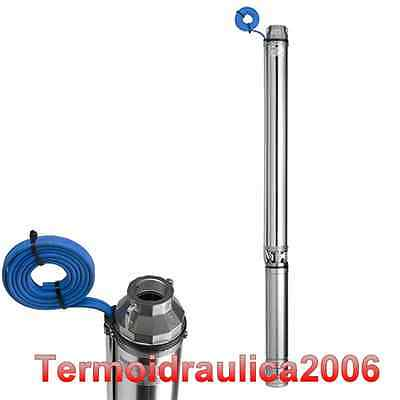 Borehole deep well submersible water pump NS96B/8CL95 0,75Kw 1x230V 50Hz SAER