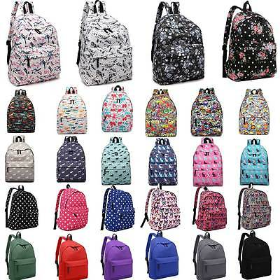 Boys Girls Retro Backpack Rucksack School College Travel Laptop Work Bag