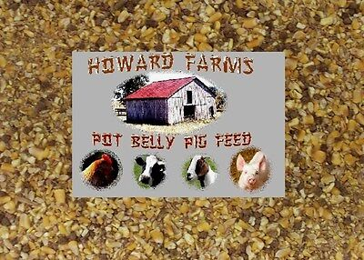 New And Improved!!!!  Howard Farms Dustless Pot Belly Pig Feed!!! 10 Pounds