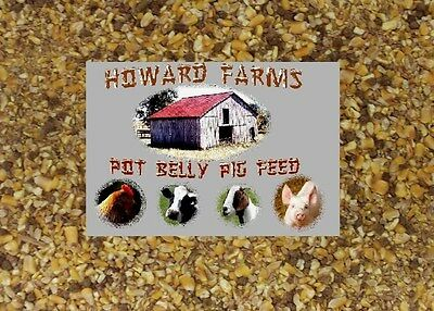 New And Improved!!!!  Howard Farms Dustless Pot Belly Pig Feed!!! 20 Pounds