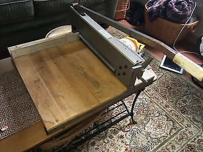 commercial stack paper cutter Model O-12 Martin Yale Business Machines, Chicago