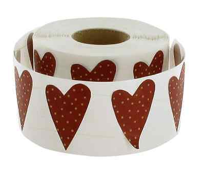 Big wine red Heart Stickers set of 24 paper crafting wedding Christmas
