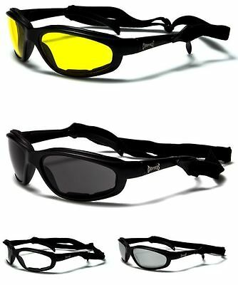 New Choppers Mens Womens Motorcycle Bikers Strap Goggles Sunglasses Wrap Uv400