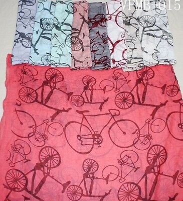 Wholesale Job Lot 12Pcs Bicycle Scarves For Ladies Pashmina Sarong Hijab Shwal