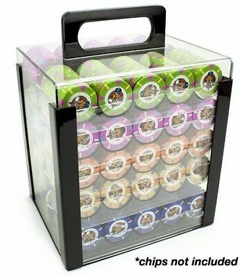 Poker Chip Display Case Acrylic Carrier Holder Trays Rack Storage Casino 1000