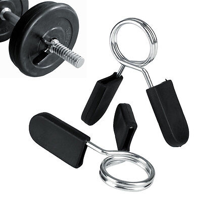 2Pcs Spring Clamp Collar Clips for Dumbbell Fitness Weight Lifting Equipment
