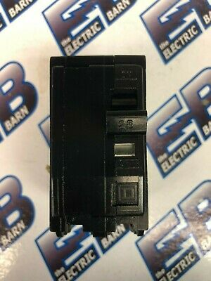Square D QO225, 25 Amp 2 Pole 240 Volt Circuit Breaker, Black- Warranty