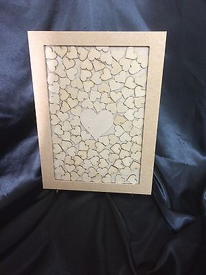 Personalised Wedding Drop Box Guest Book Complete With Hearts & stand A3