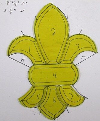 Yellow Fleur D Lis Pre-Cut Stained Glass / Mosaic Kit
