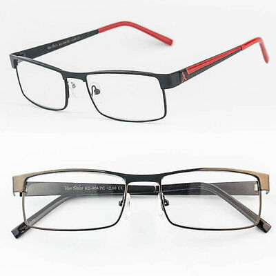 reading glasses metal hinge clear lens metal frame men women strength power h