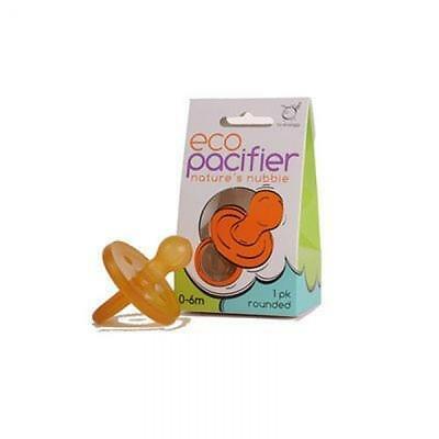 Ecopiggy Rounded Natural Pacifier (1pk) (0-6m), New, Free Shipping