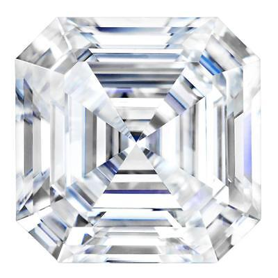Asscher Cut Forever One Moissanite by Charles & Colvard, 6.5mm, 8.0mm and 9.0mm
