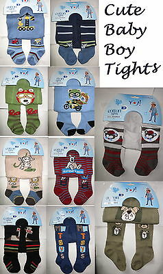 Baby Boy Tights Socks Cotton Leg Warmers Different Colours Patterns 0-36 Mth