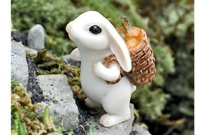Miniature Dollhouse FAIRY GARDEN - Bunny With Carrots - Accessories