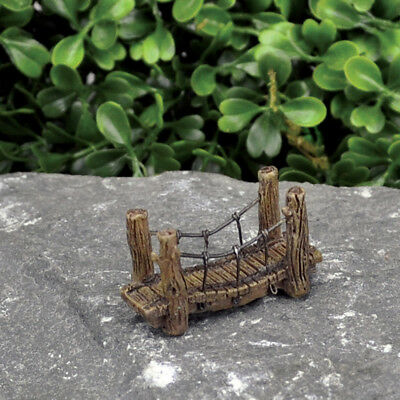 "1.75"" My Fairy Gardens Tiny Micro Mini Suspension Bridge - Miniature Figurine"
