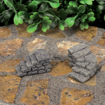 Fairy Garden Mini - Micro Mini Rock Stair Case - Set of 2