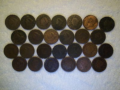 1816 - 1856 Large Cents  lot of 26 coins well circulated #6.156.111