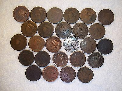 1816 - 1856 Large Cent US  lot of 26 coins well circulated #7.156.112