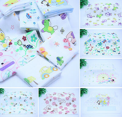 10x Kids Cartoon Pattern HANDKERCHIEFS 100% Cotton Pocket Square Hanky