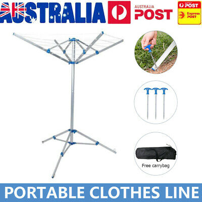 Portable Clothes Camping Dryer Airer Foldable Folding Clothesline Hanger Clothes