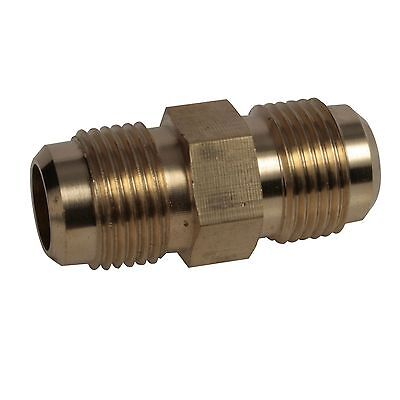 """Brass Fitting 3/8"""" x 1/4""""  Male Flare Union, SAE 45 Flare union  x 5"""